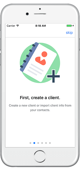 The first step in Bluegrass App is to set up a client