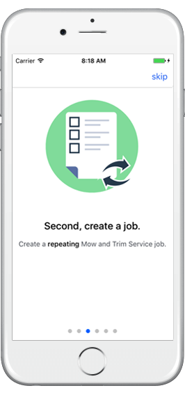 Handle lots of jobs and clients with ease right in the app
